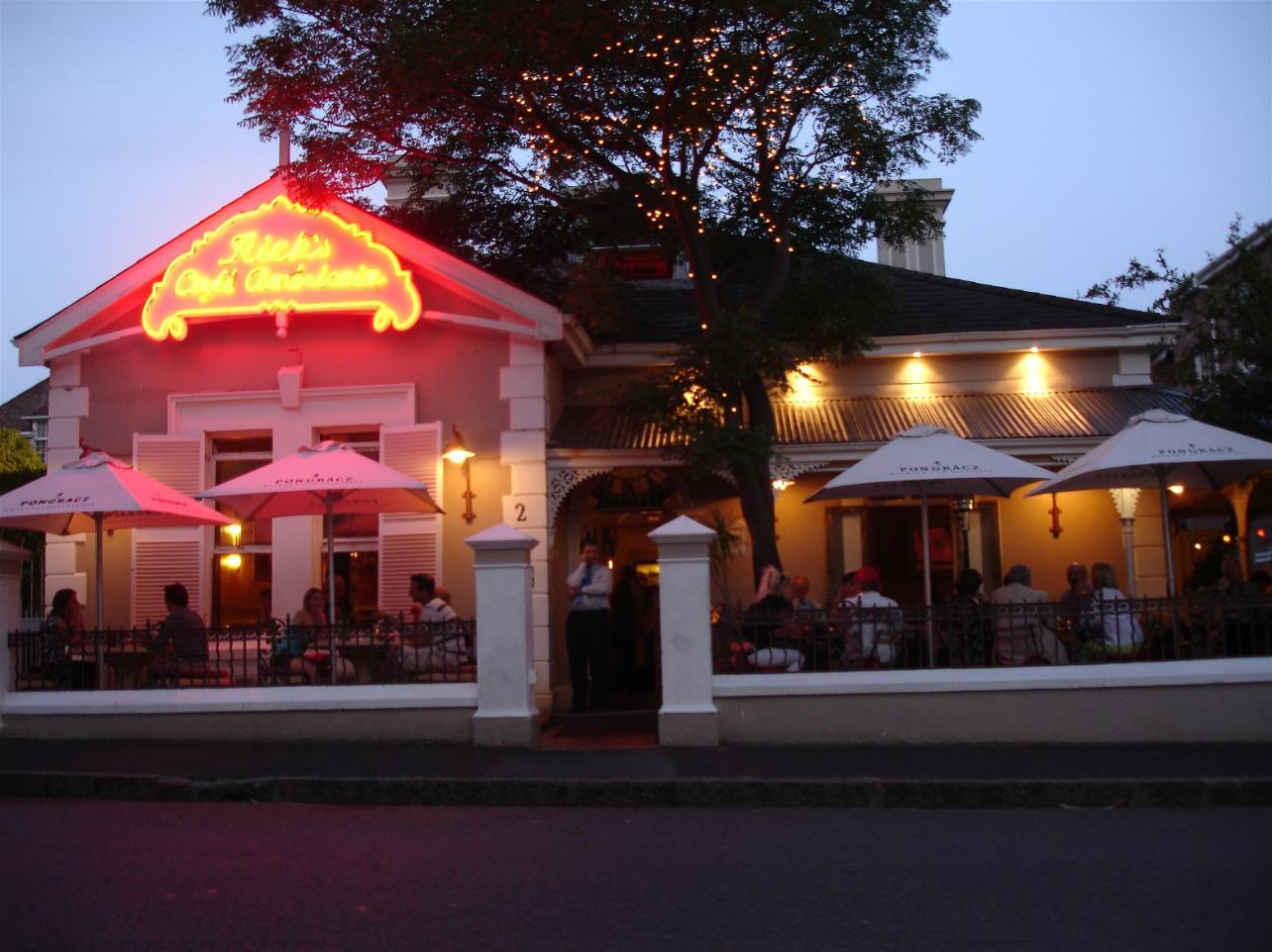 Rick S Cafe Cape Town Menu