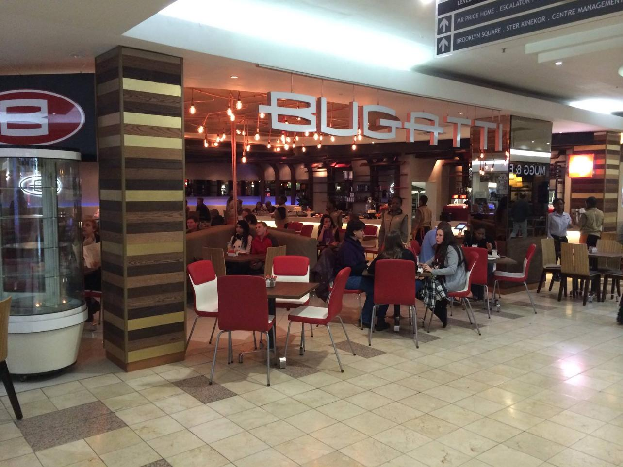 Bugatti taste cafe brooklyn restaurant brooklyn pretoria for Bugatti pizza