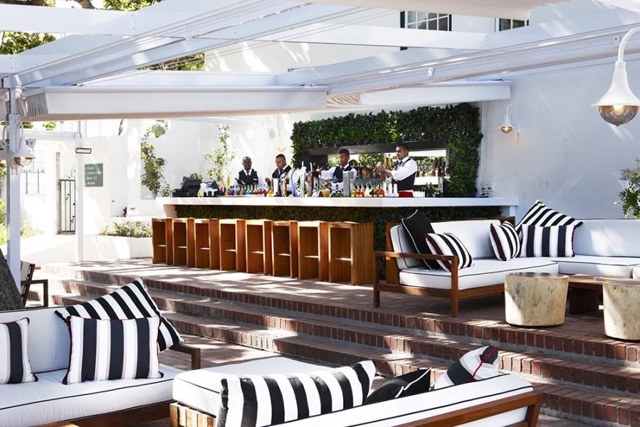 The rose bar restaurant constantia cape town for Boutique hotel alpen